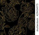 Vector Seamless Pattern. Golde...
