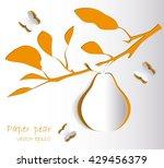 paper pear | Shutterstock .eps vector #429456379