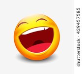 laughing emoticon   vector... | Shutterstock .eps vector #429457585