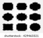 vintage label.decorative frame... | Shutterstock .eps vector #429463321