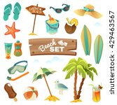 summer holidays tropical beach... | Shutterstock .eps vector #429463567