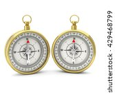 compass isolated on white... | Shutterstock . vector #429468799