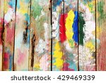 bright multi colored wooden... | Shutterstock . vector #429469339
