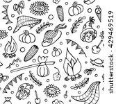 seamless pattern  festa junina... | Shutterstock .eps vector #429469519