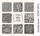 hand drawn textures and brushes....   Shutterstock .eps vector #429471871