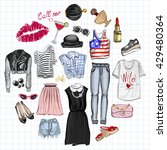 vector set with fashion and... | Shutterstock .eps vector #429480364