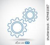 line icon   gears   Shutterstock .eps vector #429481087