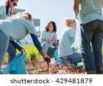 volunteering  charity  cleaning ... | Shutterstock . vector #429481879