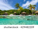 beautiful tropical beach with... | Shutterstock . vector #429482209