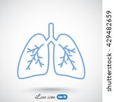 line icon  lungs   | Shutterstock .eps vector #429482659