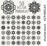 set of ornate lacy doodle... | Shutterstock .eps vector #429488164