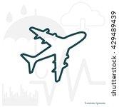 plane line icon | Shutterstock .eps vector #429489439