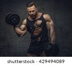 portrait of bodybuilder with... | Shutterstock . vector #429494089