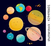 beautiful and funny planet of...   Shutterstock .eps vector #429498601