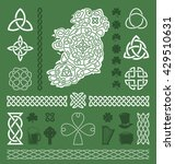 collection of celtic   irish... | Shutterstock .eps vector #429510631