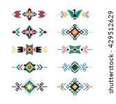 vector set of decorative ethnic ... | Shutterstock .eps vector #429512629