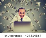 middle aged business man using... | Shutterstock . vector #429514867