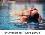 beautiful women relaxing at the ... | Shutterstock . vector #429518935