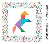 tangram horse  abstract...   Shutterstock .eps vector #429519805