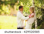 groom in embroidered shirt... | Shutterstock . vector #429520585