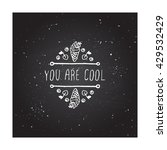hand sketched summer element... | Shutterstock .eps vector #429532429