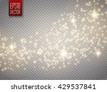 vector gold glitter wave... | Shutterstock .eps vector #429537841