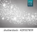 Vector White Glitter Wave...