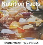 nutrition facts medical diet... | Shutterstock . vector #429548965