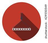 icon of slab hanged on crane...
