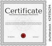 certificate template eps10 jpg... | Shutterstock .eps vector #429556294