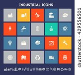 industrial icons. multicolored... | Shutterstock .eps vector #429556501