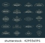 wicker lines and old decor... | Shutterstock .eps vector #429556591