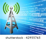 digital radio tower wave modern ...   Shutterstock .eps vector #42955765