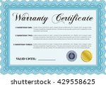 sample warranty certificate... | Shutterstock .eps vector #429558625