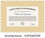 diploma. with background.... | Shutterstock .eps vector #429560539