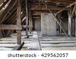 inside roof framework ... | Shutterstock . vector #429562057