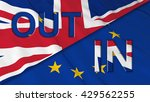 brexit   britain in or out of... | Shutterstock . vector #429562255