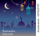 ramadan greetings background | Shutterstock .eps vector #429565747
