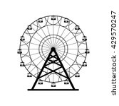 ferris wheel silhouette  circle.... | Shutterstock .eps vector #429570247