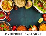 mixed mexican food background.... | Shutterstock . vector #429572674
