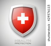 medical health cross protection ... | Shutterstock .eps vector #429576115
