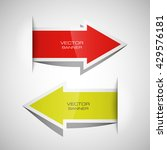 vector arrow banners set.... | Shutterstock .eps vector #429576181