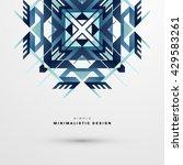 geometric vector background.... | Shutterstock .eps vector #429583261