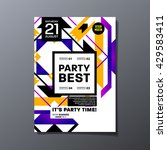 party flyer template. vector... | Shutterstock .eps vector #429583411