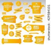 vintage labels set   origami...   Shutterstock .eps vector #429584101