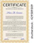 certificate template eps10 jpg... | Shutterstock .eps vector #429589309