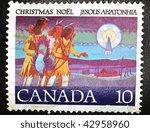 canada   circa 1998  a stamp... | Shutterstock . vector #42958960