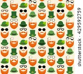 seamless pattern with faces in... | Shutterstock . vector #429592759
