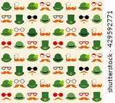 seamless pattern with faces in... | Shutterstock . vector #429592771