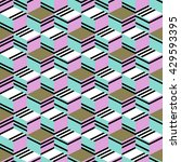 Seamless Pattern With Cube....